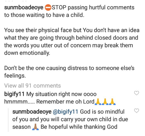 Tuface's baby mama, Sunmbo opens up on what she faced after a delay in having a child with her pastor husband