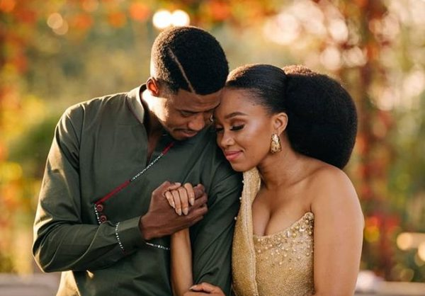 See photos of Dineo Langa and Solo's 1st wedding anniversary celebration