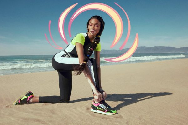 """Winnie Harlow features in PUMA launch of the """"Mile Rider"""" sneaker"""