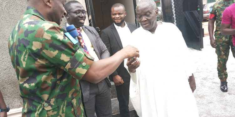PHOTOS: Army Chief donates 3-bedroom bungalow to 85-year-old war veteran