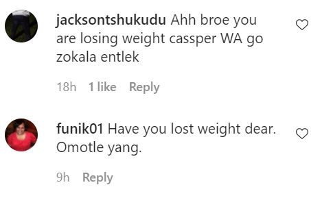 Carpomore's weight loss shocks fans – Photo