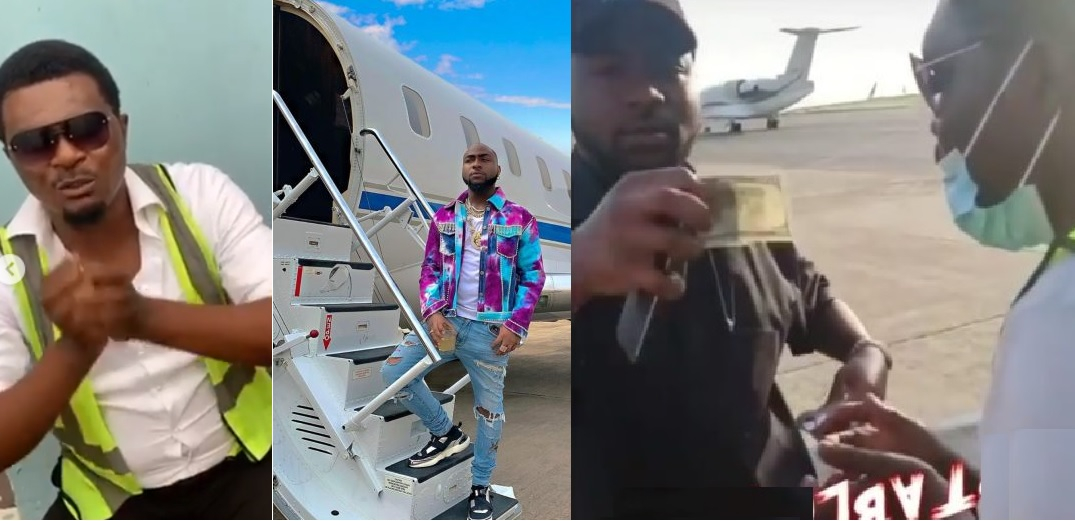 """Davido Please Help Me"" - Airport Official Who Davido tipped $100, cries out for help after getting fired"