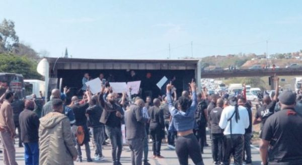 Watch: Artists protest in Durban, clash with police
