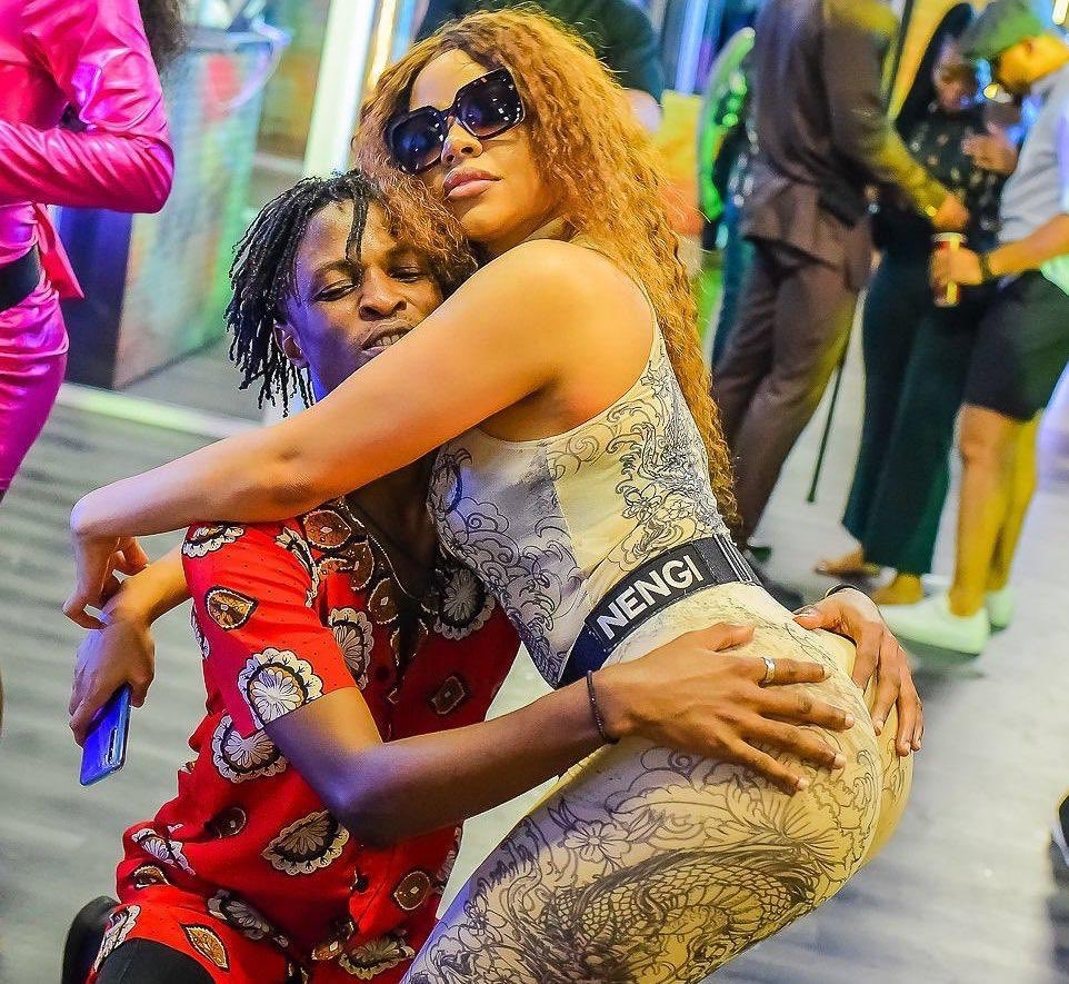 Fans react as Laycon grabs Nengi's derriere