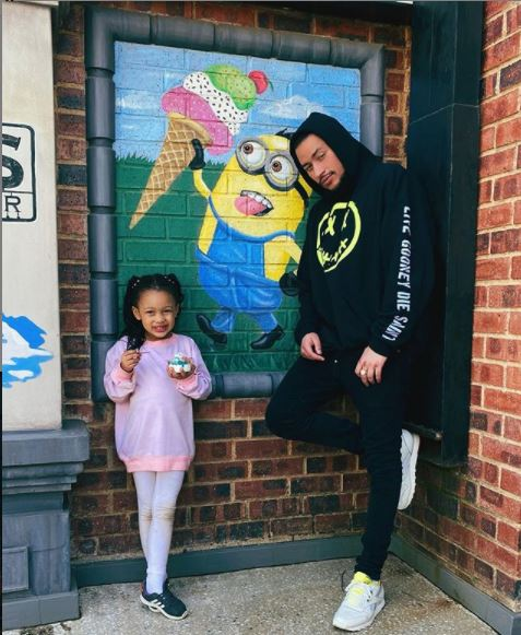 AKA shares a photo of himself with daughter, Kairo