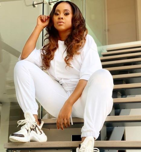 Omuhle Gela throws it back to when she was 8months pregnant