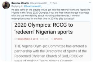 RCCG investigates pastor who was accused of sexual assault by former basketball player