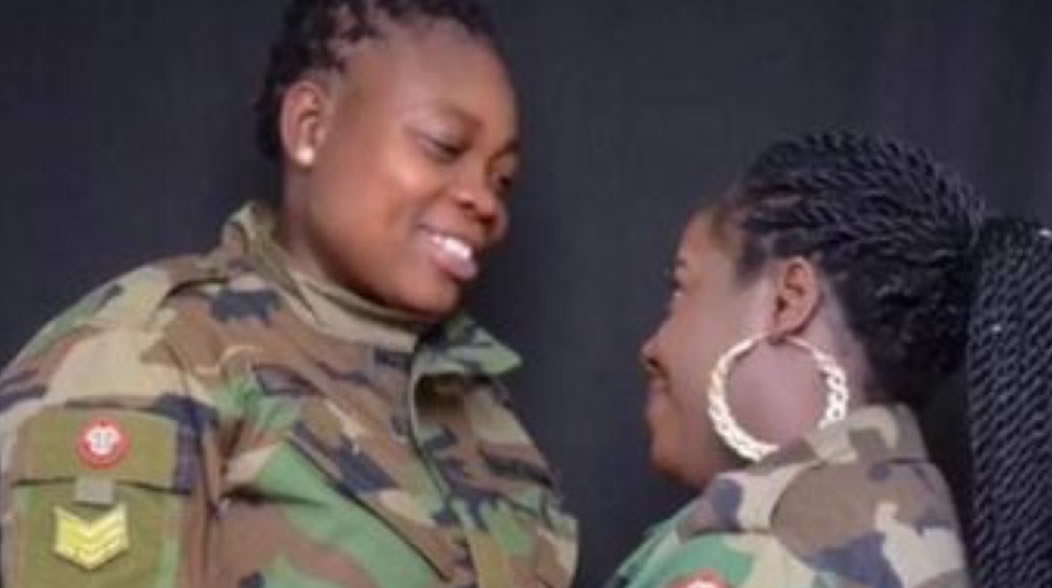 VIDEO: Ghanaian Military woman arrested after wedding to lesbian partner