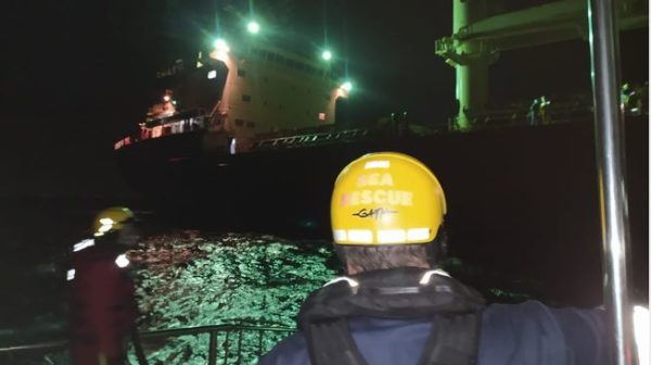Crewman on bulk carrier suffers serious injury and rushed to Durban hospital