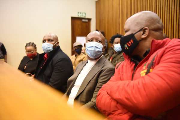 Officer tells court that Malema and Ndlozi pushed him hard