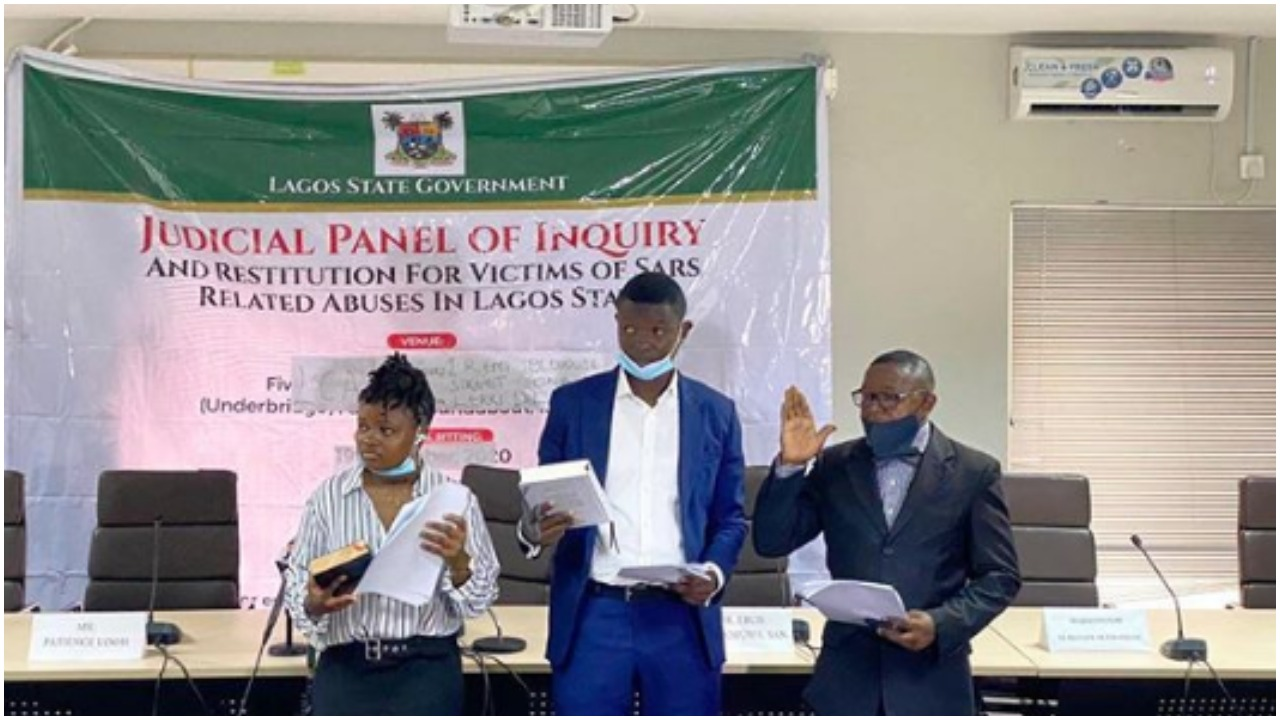 'May God be with them' – Nigerians react as Lagos state swears in 2 youths as member of #EndSars Panel