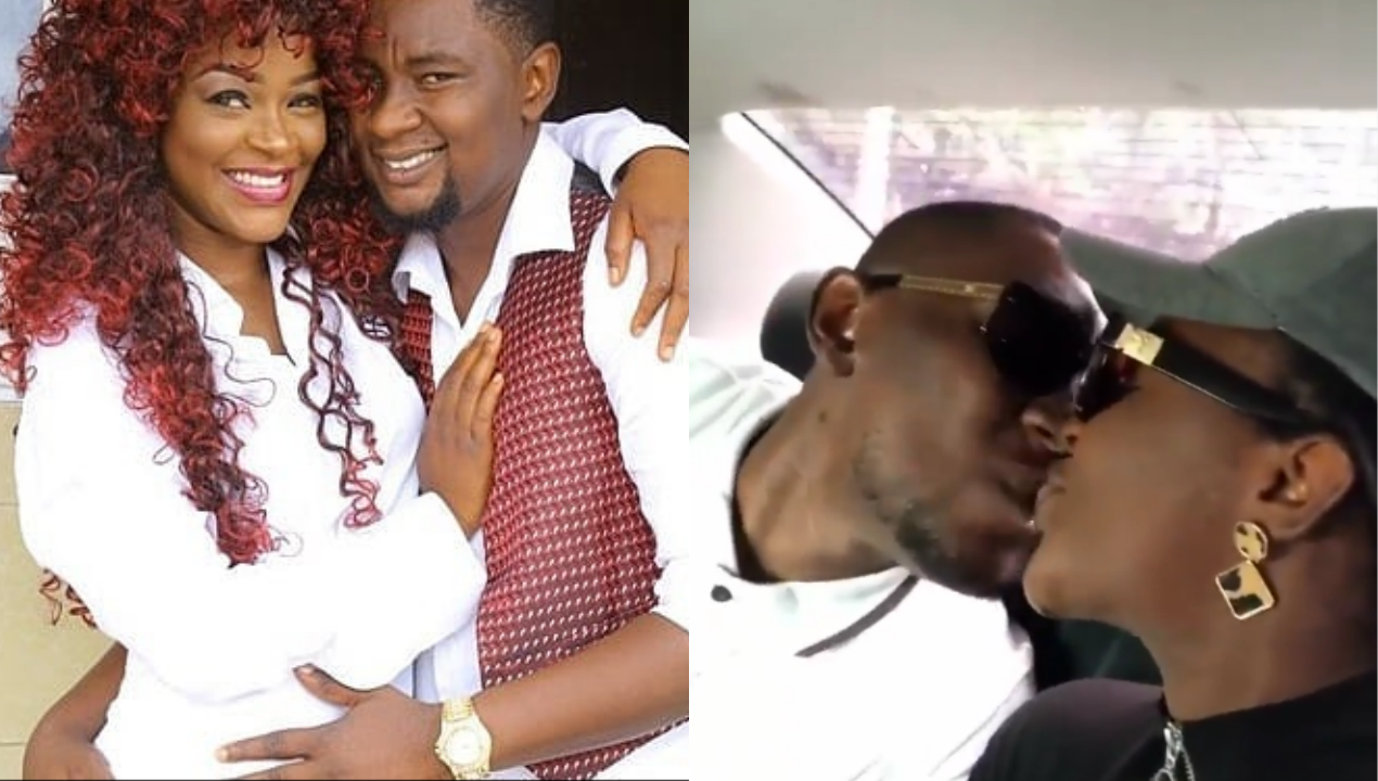 Days after announcing split from husband, bipolar actress, Chacha Eke kisses him passionately