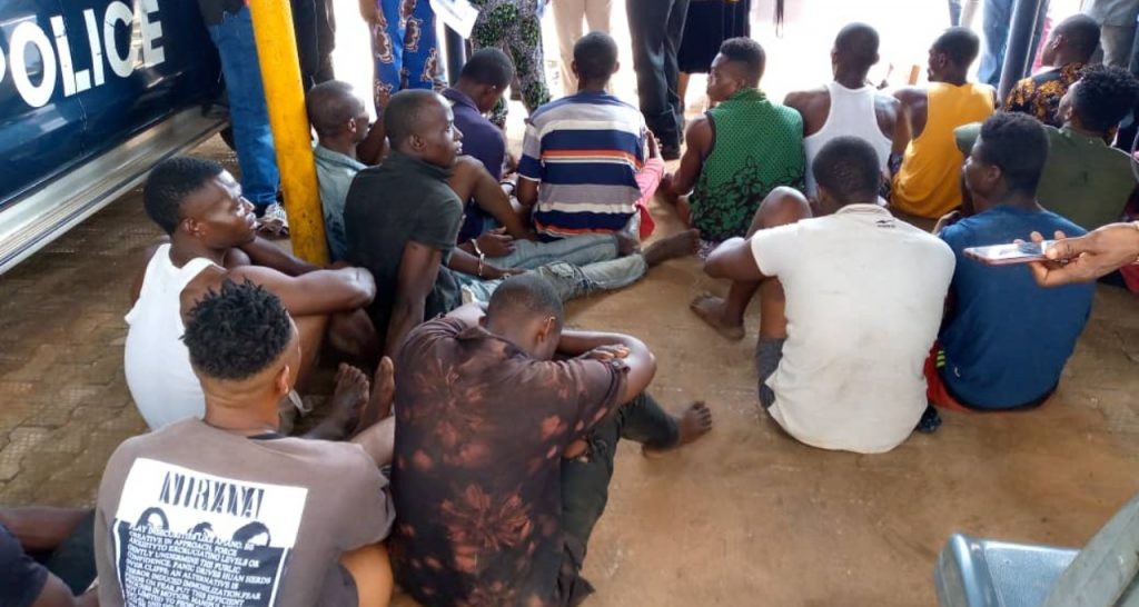 EndSARS: Anambra Police recover stolen AK-47, parade 17 suspects for arson, looting