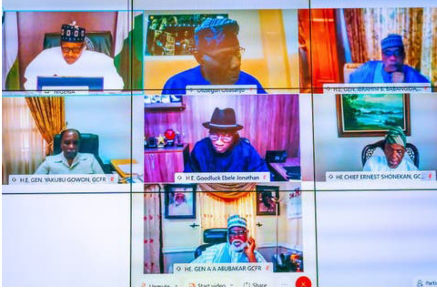 EndSARS: Details of Buhari's meeting with Obasanjo, Jonathan, others emerge