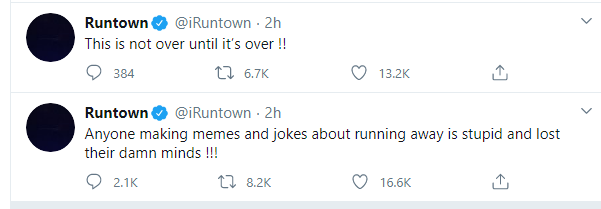 #EndSars: 'It's not over until it is over' – Runtown vows