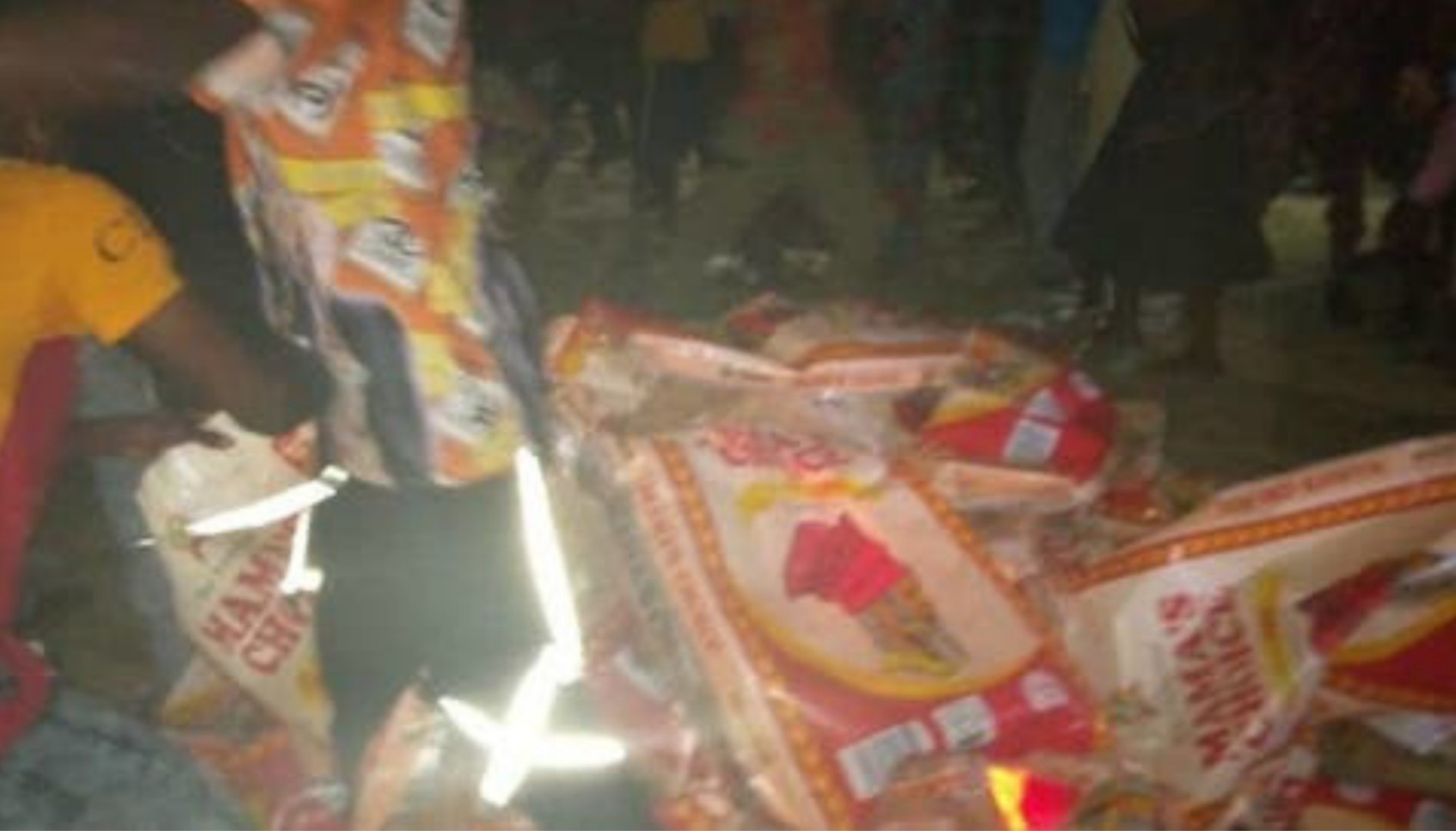 JUST IN: Over 10 people feared dead, several injured as trailer carrying bags of rice ram into Ondo market