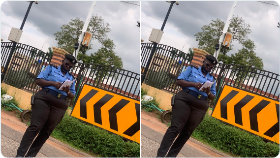 Stop wasting your time- Police officer, Sholla Omilade, allegedly tells #EndSARS protesters in Lagos