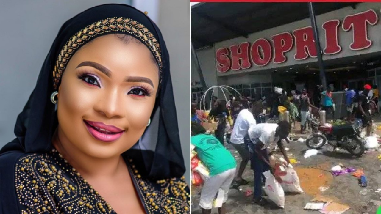 'This is pathetic' – Actress, Laide Bakare reacts to hoodlums looting Malls