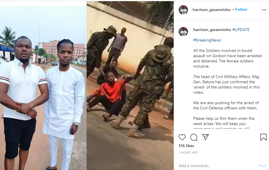 VIDEO: Soldiers Allegedly Arrested For Assaulting Young Man In Asaba, Delta State