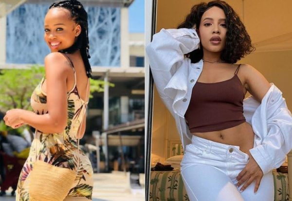 Ntando Duma and Thuli Phongolo in matching outfit – Who rocked it better?