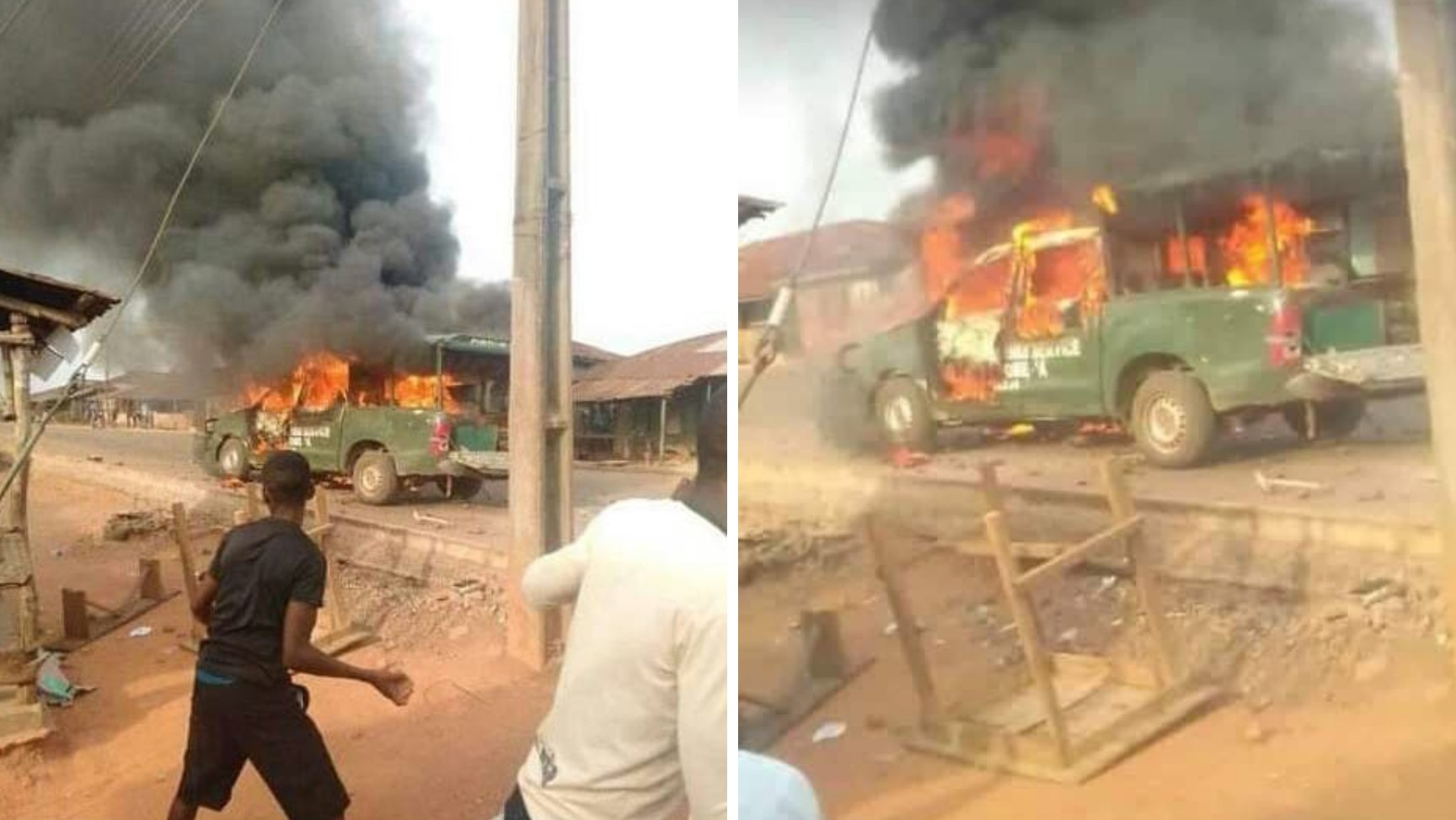 Army officer killed as security agents, smugglers clash in Oyo (PHOTOS)