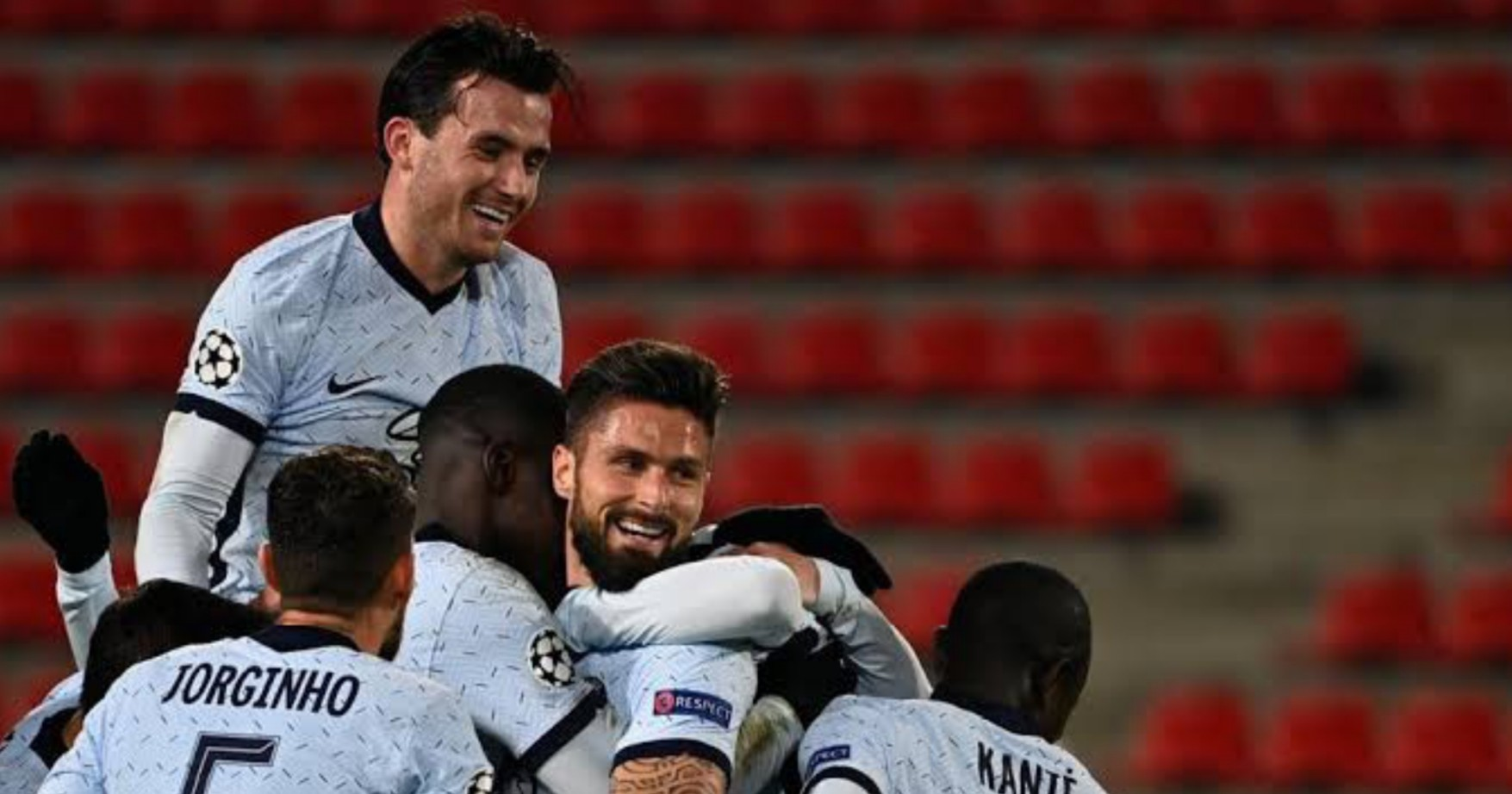 UCL: Giroud's late strike vs Rennes sends Chelsea into round of 16