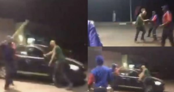 Mzansi react to old video of petrol attendants beating up an unknown man