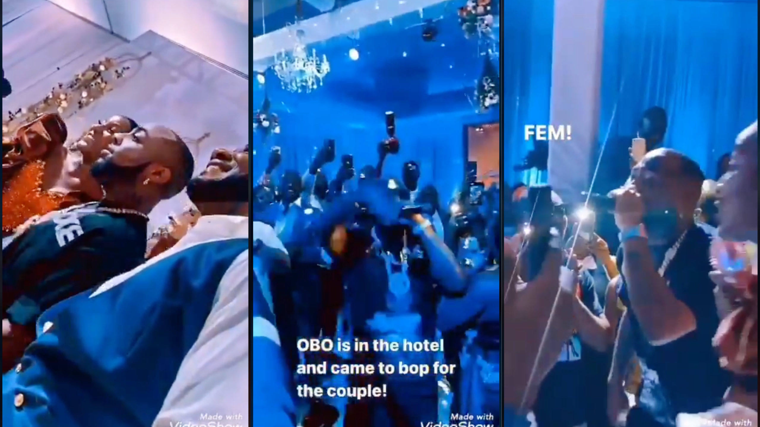 VIDEO: Moment Davido Stormed Fan's Wedding Reception, Performs For Free