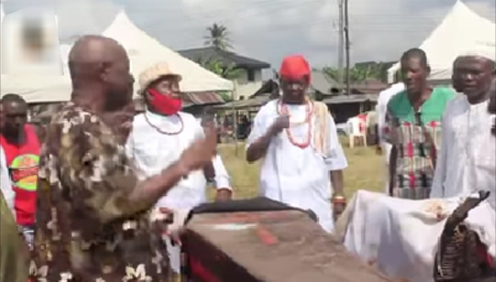 PHOTOS: Delta community conducts traditional cleansing, lays curses on cultists and other criminals