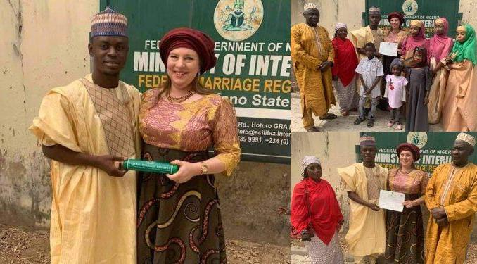 Photos From Court Wedding Of 23-year-old Kano Man And 46-year-old American Lover