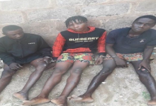 Three arrested for robbing, gang-raping and killing a trader in Edo