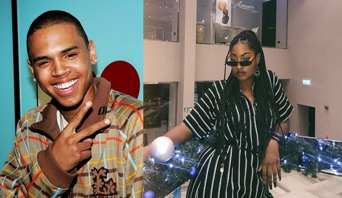 Chris Brown acknowledges singer Tems' musical prowess