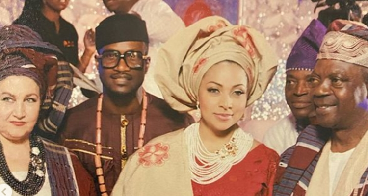 Peter Okoye's wife, Lola, loses her father