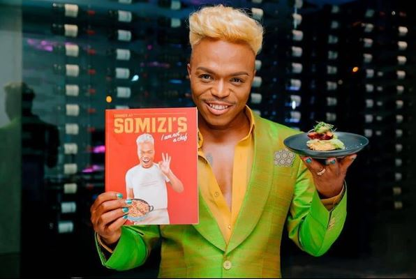 Somizi reveals his close friend bought 20 copies of his cookbook to show support