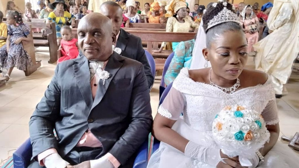 Visually impaired couple weds in Anambra