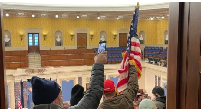 Woman shot during invasion of US congress is dead