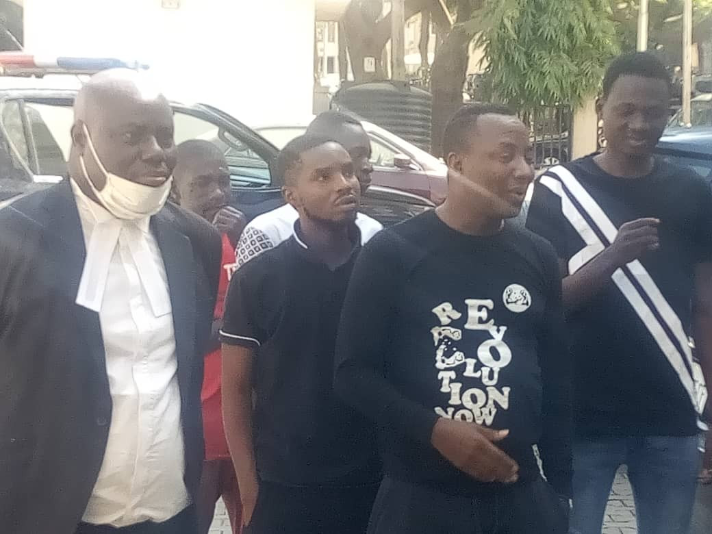 PHOTOS: FG arraigns Sowore and four others over New Year's eve protest
