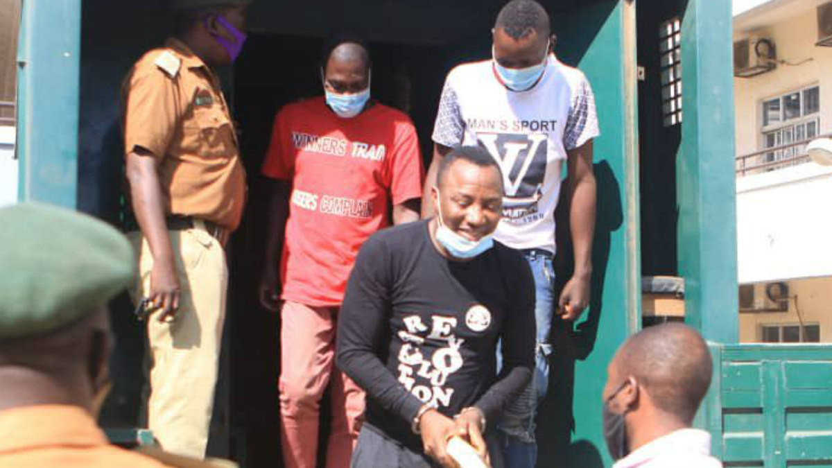 Sowore's bail application stalled as police fail to produce him and others in court