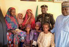 Police reunite three 'abandoned' children with their family