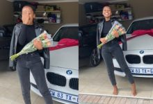 SA goes frenzy over lady whose man surprised her with a new car