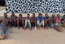 Lagos Police arrest nine suspected traffic robbers on New Year's eve
