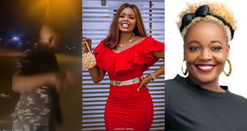 BBNaija ladies Kaisha and Lucy harassed by police officers in Lagos (video)
