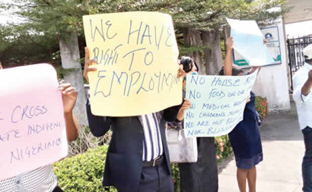 Drama as Magistrates block governor's office, protest over 24-Month unpaid salaries