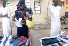 PHOTOS: Man arrested for stealing valuables from girlfriend's home in Katsina