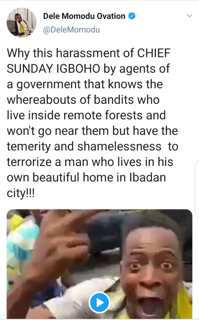 JUST IN: Violence erupts as Soldiers, Police, DSS attempt to arrest Sunday Igboho (VIDEO)