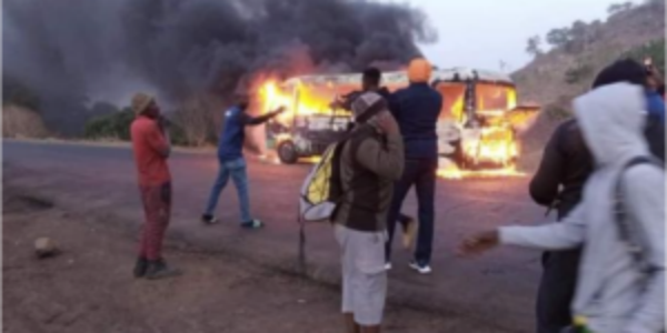 BREAKING: Wikki Tourists FC bus burnt to ashes in accident