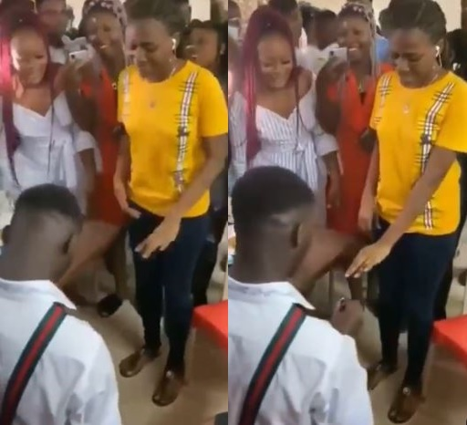 Lady runs mad after boyfriend proposes marriage (Video)