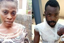 PHOTOS: Ogun police arrest woman for pouring hot water on her husband, allegedly killing their baby