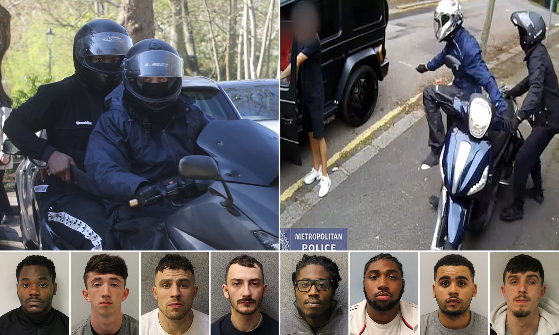 Thugs who tried robbing Arsenal stars Mezut Ozil and Sead Kolasinac jailed for more than 100 years