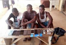 Police arrest six suspected robbers, cultist in Lagos